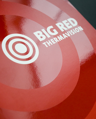 """A logotype developed for a small business specialising in infra red imaging to detect leaks invisible to the naked eye. The concentric circle represent the thermal rays and 'hitting-the-bulls-eye"""" when finding the leak.  c 2009 birdesign"""