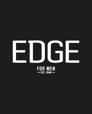 AAs an established and recognisable mens hairdresser in the main shopping malls of Cape Town, Edge for Men required a refresh of their current look to capture the traditional appeal of barbershops, and to promote their offering of beard trimming, without alienating an existing client base of both men and women.  The Edge for Men identity is used on all primary communication (advertising, promotions, signage). Edge Barber & Beardsmith is applied to the Menu of Services.  The strong black and white palette was retained with the addition of barbershop red for use in promotional messaging. Simple graphic icons were developed for menus to assist in guiding the client through the menu of services.  c 2015 birdesign