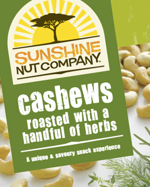 The Sunshine Nut Company is a Mozambique-based company preparing to export locally produced cashews to South Africa and the States. With a strong company philosophy of social investment back into the communities that farm the cashews, a strong brand identity was needed that reflected their hands-on, down-to-earth approach as well as appealing to retailers and consumers.