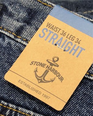 A refreshed look for the Edgars in-house brand, Stone Harbour Denim. A fresh colour palette and kraft board substrate with bold typography make the area easier to shop.
