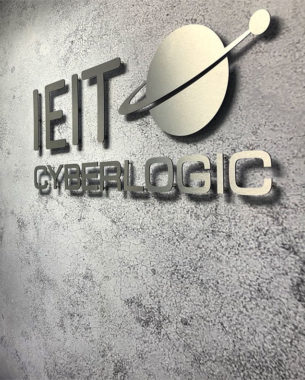 The amalgamation of 2 companies IET and Cyberlogic into the IEIT brand. This project not only involved the design of business cards and company collatoral, but also the rebranding of 2 office spaces. With the help of Colorcinno we developed large format vinyl prints and wall papers to refresh the office spaces and create a more tech environment for the staff. 