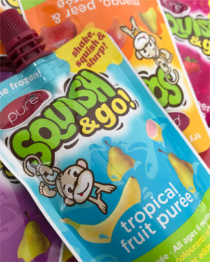 Following on from their new range of baby purées, it was decided that the original toddler range, Squish, should be refreshed.